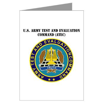 ATEC - M01 - 02 - U.S. Army Test and Evaluation Command (ATEC) with Text - Greeting Cards (Pk of 10)