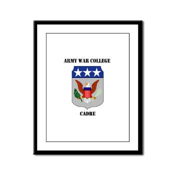AWCC - M01 - 02 - Army War College Cadre with Text Framed Panel Print