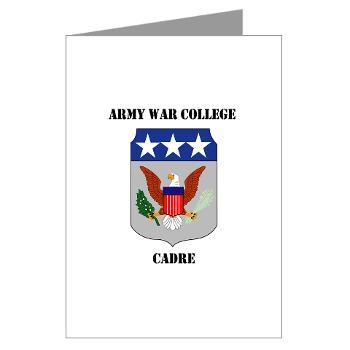 AWCC - M01 - 02 - Army War College Cadre with Text Greeting Cards (Pk of 20)