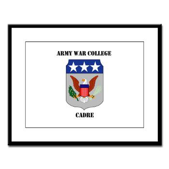 AWCC - M01 - 02 - Army War College Cadre with Text Large Framed Print