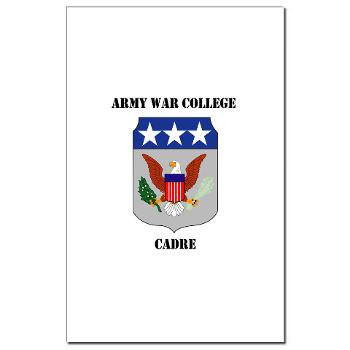 AWCC - M01 - 02 - Army War College Cadre with Text Mini Poster Print