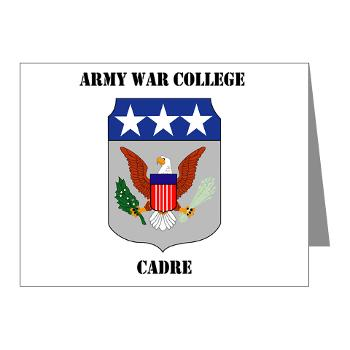 AWCC - M01 - 02 - Army War College Cadre with Text Note Cards (Pk of 20)