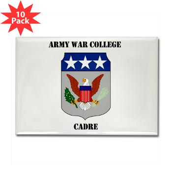 AWCC - M01 - 01 - Army War College Cadre with Text Rectangle Magnet (10 pack)