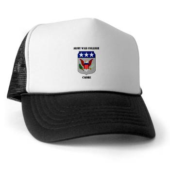 AWCC - A01 - 02 - Army War College Cadre with Text Trucker Hat