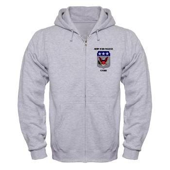 AWCC - A01 - 03 - Army War College Cadre with Text Zip Hoodie