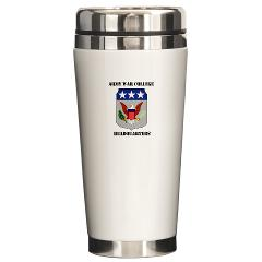 AWCH - M01 - 03 - Army War College Headquarters with Text Ceramic Travel Mug