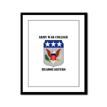 AWCH - M01 - 02 - Army War College Headquarters with Text Framed Panel Print