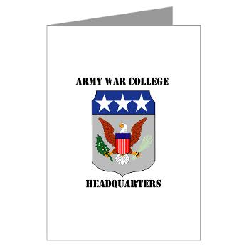 AWCH - M01 - 02 - Army War College Headquarters with Text Greeting Cards (Pk of 20)