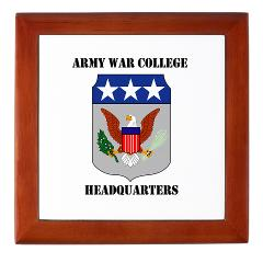 AWCH - M01 - 03 - Army War College Headquarters with Text Keepsake Box