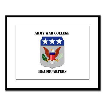 AWCH - M01 - 02 - Army War College Headquarters with Text Large Framed Print