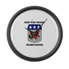 AWCH - M01 - 03 - Army War College Headquarters with Text Large Wall Clock