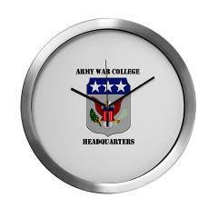 AWCH - M01 - 03 - Army War College Headquarters with Text Modern Wall Clock