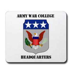 AWCH - M01 - 03 - Army War College Headquarters with Text Mousepad