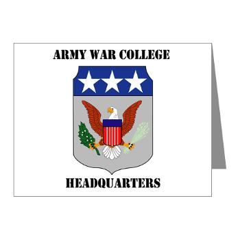 AWCH - M01 - 02 - Army War College Headquarters with Text Note Cards (Pk of 20)
