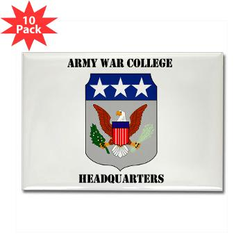 AWCH - M01 - 01 - Army War College Headquarters with Text Rectangle Magnet (10 pack)