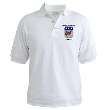 AWCS - A01 - 04 - Army War College Students with Text Golf Shirt