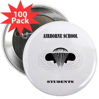 "Airborne - M01 - 01 - DUI - Airborne School - Cadre with Text - 2.25"" Button (100 pack)"