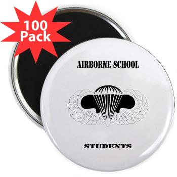"Airborne - M01 - 01 - DUI - Airborne School - Cadre with Text - 2.25"" Magnet (100 pack)"