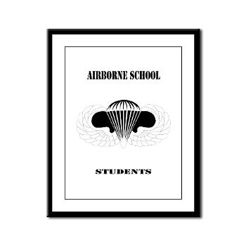 Airborne - M01 - 02 - DUI - Airborne School - Cadre with Text - Framed Panel Print