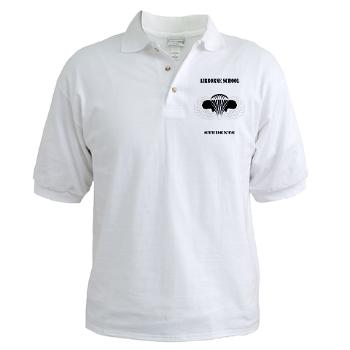 Airborne - A01 - 04 - DUI - Airborne School - Cadre with Text - Golf Shirt