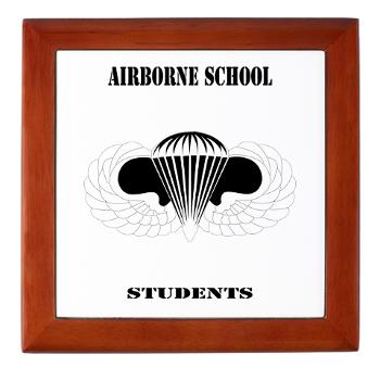 Airborne - M01 - 03 - DUI - Airborne School - Cadre with Text - Keepsake Box