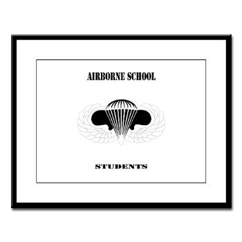 Airborne - M01 - 02 - DUI - Airborne School - Cadre with Text - Large Framed Print