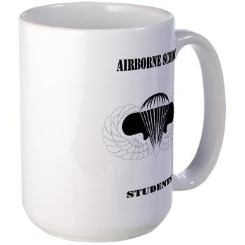 Airborne - M01 - 03 - DUI - Airborne School - Cadre with Text - Large Mug