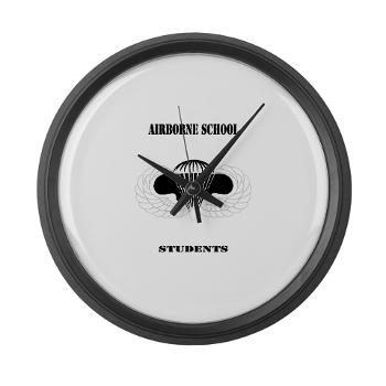 Airborne - M01 - 03 - DUI - Airborne School - Cadre with Text - Large Wall Clock