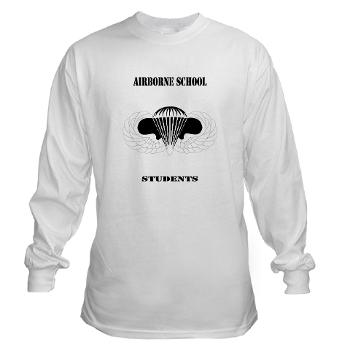 Airborne - A01 - 03 - DUI - Airborne School - Cadre with Text - Long Sleeve T-Shirt