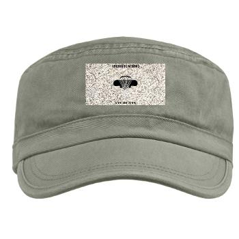 Airborne - A01 - 01 - DUI - Airborne School - Cadre with Text - Military Cap