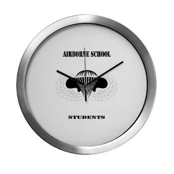 Airborne - M01 - 03 - DUI - Airborne School - Cadre with Text - Modern Wall Clock