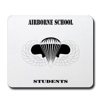 Airborne - M01 - 03 - DUI - Airborne School - Cadre with Text - Mousepad