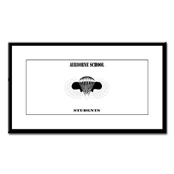 Airborne - M01 - 02 - DUI - Airborne School - Cadre with Text - Small Framed Print