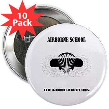 "Airborne - M01 - 01 - DUI - Airborne School Cap with Text - 2.25"" Button (10 pack)"