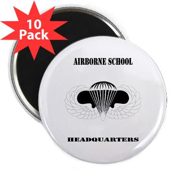 "Airborne - M01 - 01 - DUI - Airborne School Cap with Text - 2.25"" Magnet (10 pack)"