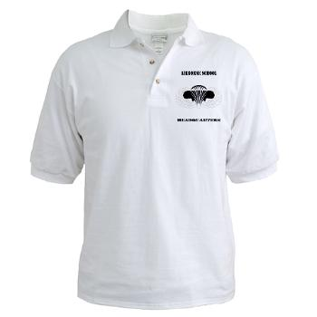 Airborne - A01 - 04 - DUI - Airborne School Cap with Text - Golf Shirt