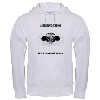 Airborne - A01 - 03 - DUI - Airborne School Cap with Text - Hooded Sweatshirt