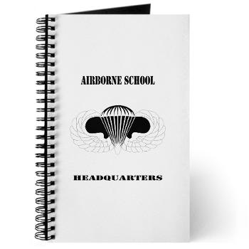 Airborne - M01 - 02 - DUI - Airborne School Cap with Text - Journal