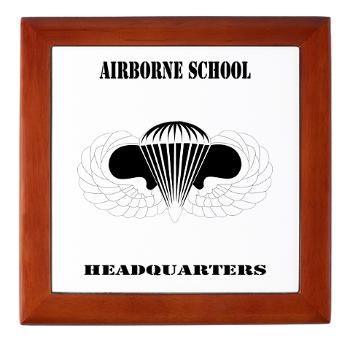 Airborne - M01 - 03 - DUI - Airborne School Cap with Text - Keepsake Box