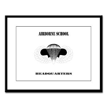 Airborne - M01 - 02 - DUI - Airborne School Cap with Text - Large Framed Print