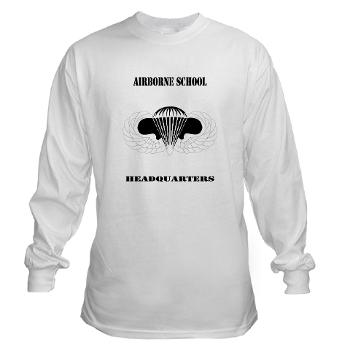 Airborne - A01 - 03 - DUI - Airborne School Cap with Text - Long Sleeve T-Shirt