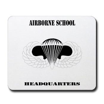 Airborne - M01 - 03 - DUI - Airborne School Cap with Text - Mousepad
