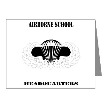 Airborne - M01 - 02 - DUI - Airborne School Cap with Text - Note Cards (Pk of 20)