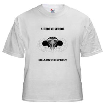 Airborne - A01 - 04 - DUI - Airborne School Cap with Text - White t-Shirt