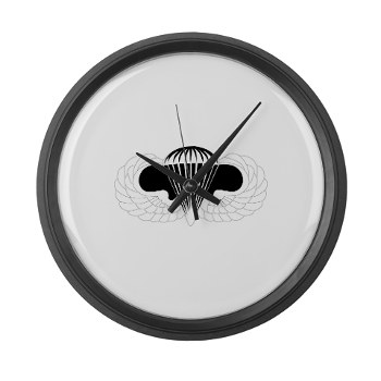 Airborne - M01 - 03 - DUI - Airborne School Large Wall Clock