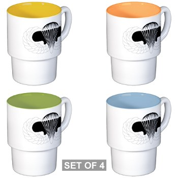 Airborne - M01 - 03 - DUI - Airborne School Stackable Mug Set (4 mugs)