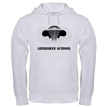 Airborne - A01 - 03 - DUI - Airborne School with Text Hooded Sweatshirt