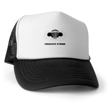 Airborne - A01 - 02 - DUI - Airborne School with Text Trucker Hat
