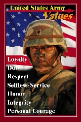 DOD Media - Army Values 18 x 24 Mounted 3408 - 36555