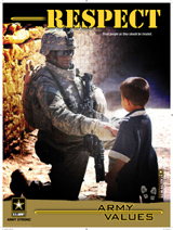 DOD Media - Army Values Respect 18 x 24 Mounted 3408-36619